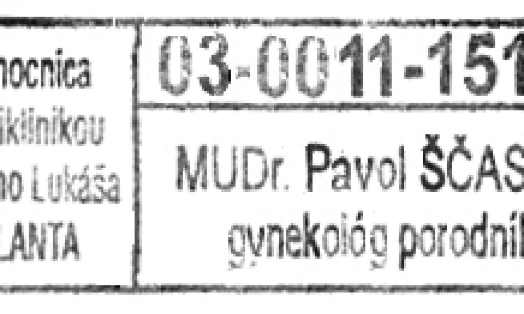 MUDr. Pavol Ščasný