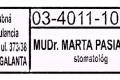 MUDr. Marta Pasiarová