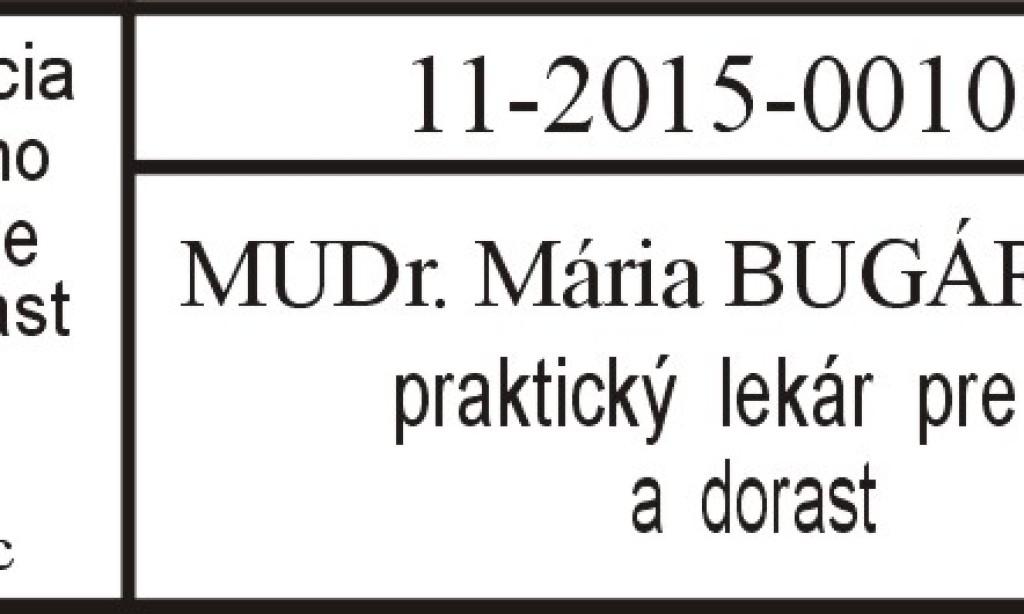 MUDr. Mária Bugárová