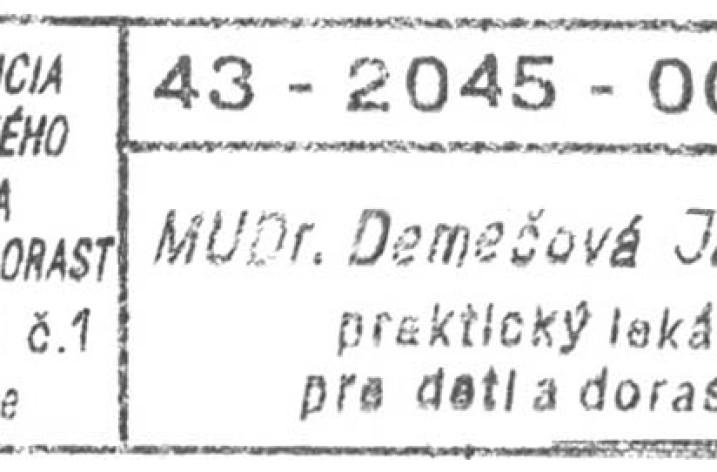 MUDr. Demečová Jaroslava