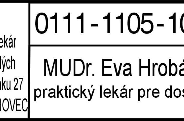 MUDr. Eva Hrobárová