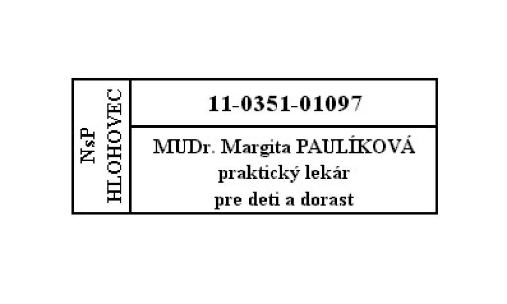 MUDr. Margita Paulíková
