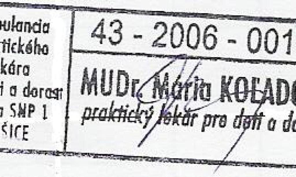 MUDr. Mária Koľadová