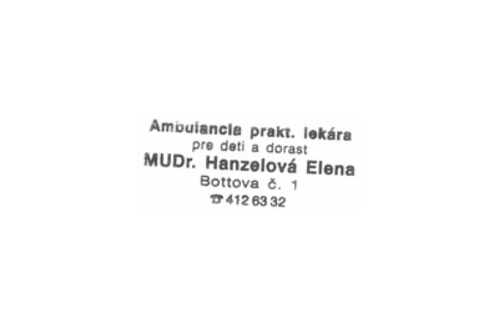 MUDr. Hanzelová Elena