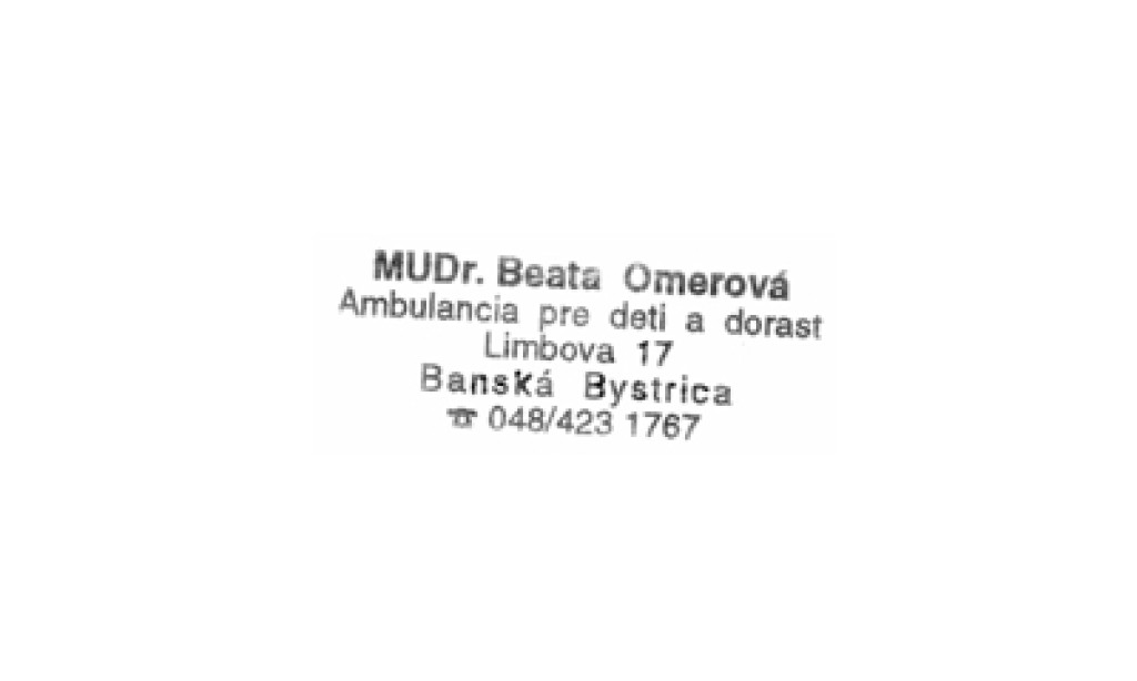 MUDr. Beata Omerová