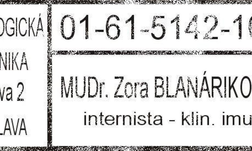 MUDr. Zora Blanáriková, CSc.